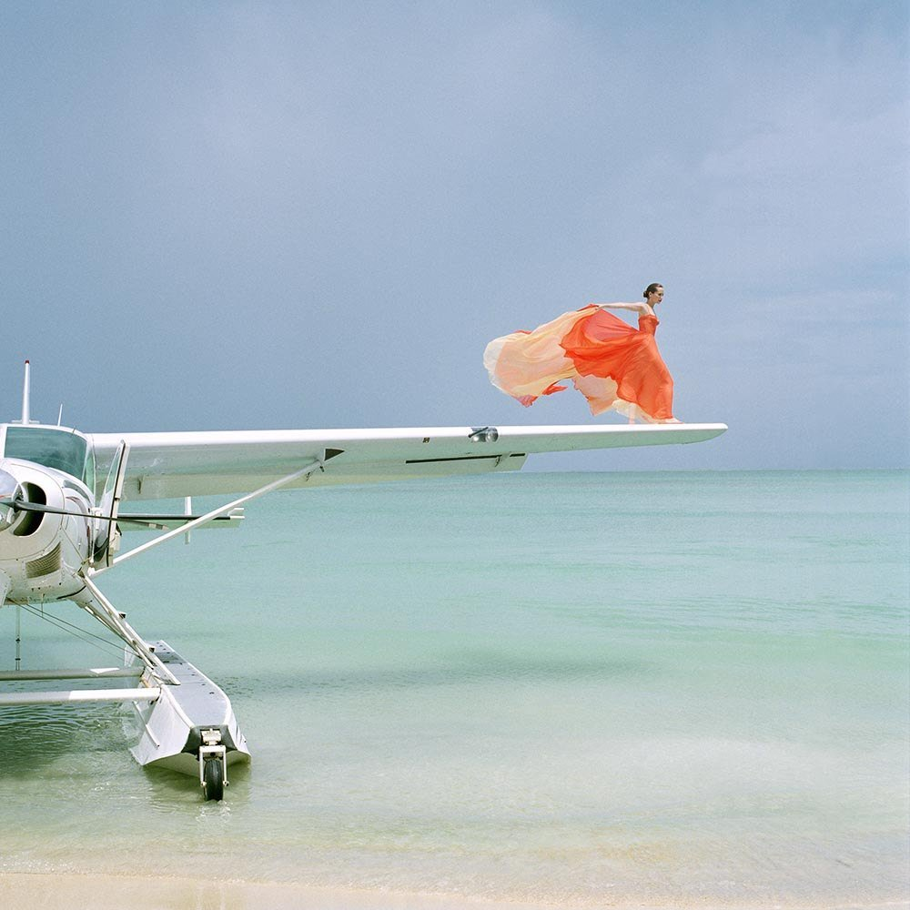 "<span class=""caption-title"">Saori on Sea Plane Wing</span>, Dominican Republic, 2010<span class=""caption-copyright"">© Rodney Smith</span>"