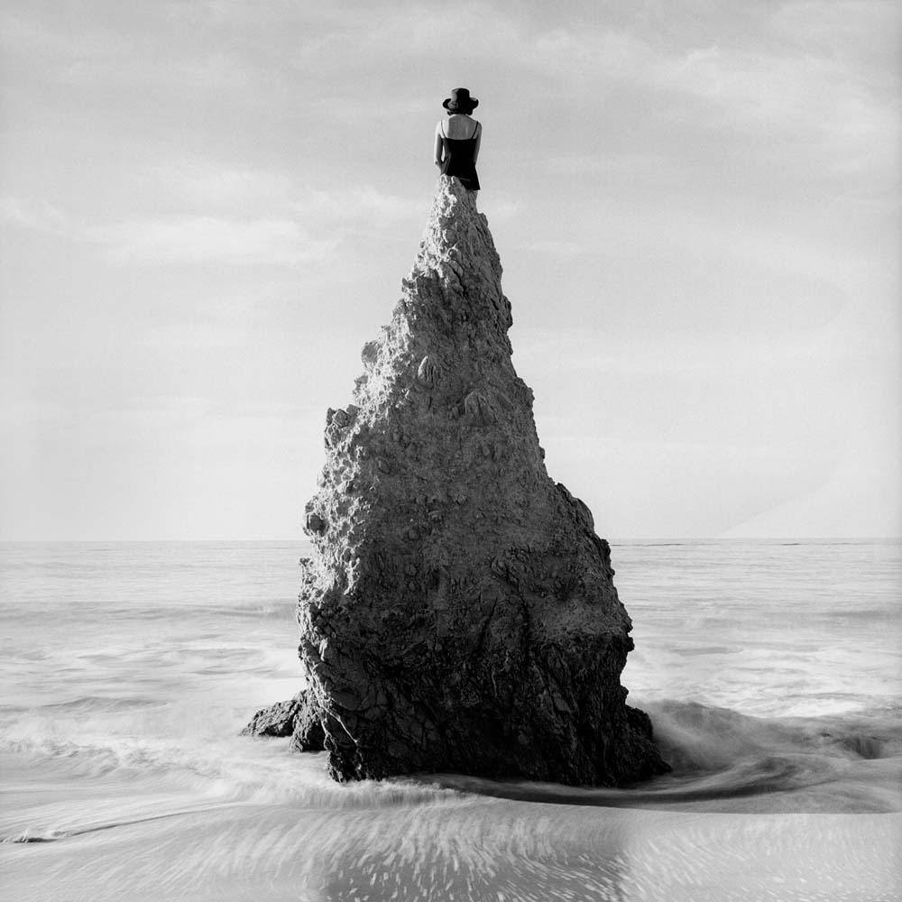 "<span class=""caption-title"">Caroline on Pointed Rock</span>, Near Los Angeles, California,  1998<span class=""caption-copyright"">© Rodney Smith</span>"