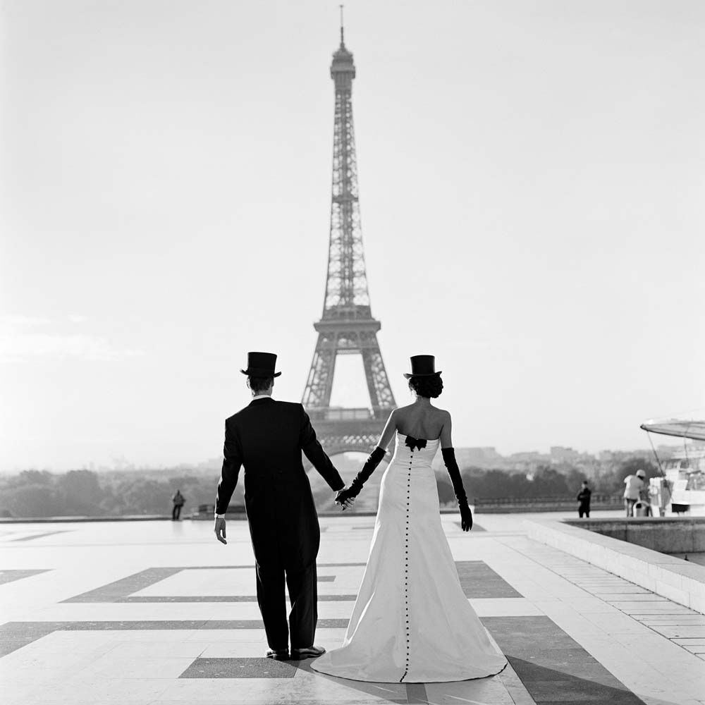 "<span class=""caption-title"">Wessel and Mira Holding Hands in front of the Eiffel Tower</span>, Paris, France, 2007<span class=""caption-copyright"">© Rodney Smith</span>"