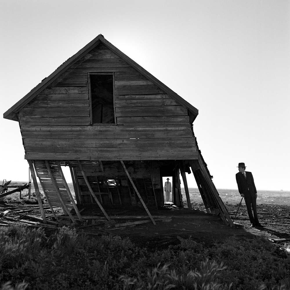 "<span class=""caption-title"">Leaning House</span>, Alberta, Canada, 2004<span class=""caption-copyright"">© Rodney Smith</span>"