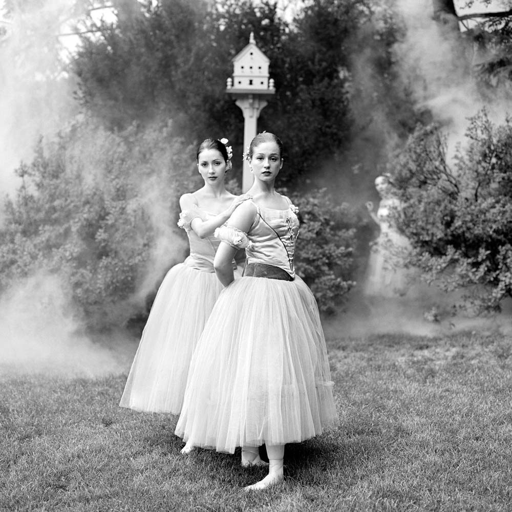 "<span class=""caption-title"">Elena and Jessy at Birdhouse</span>, Snedens Landing, New York, 1999<span class=""caption-copyright"">© Rodney Smith</span>"