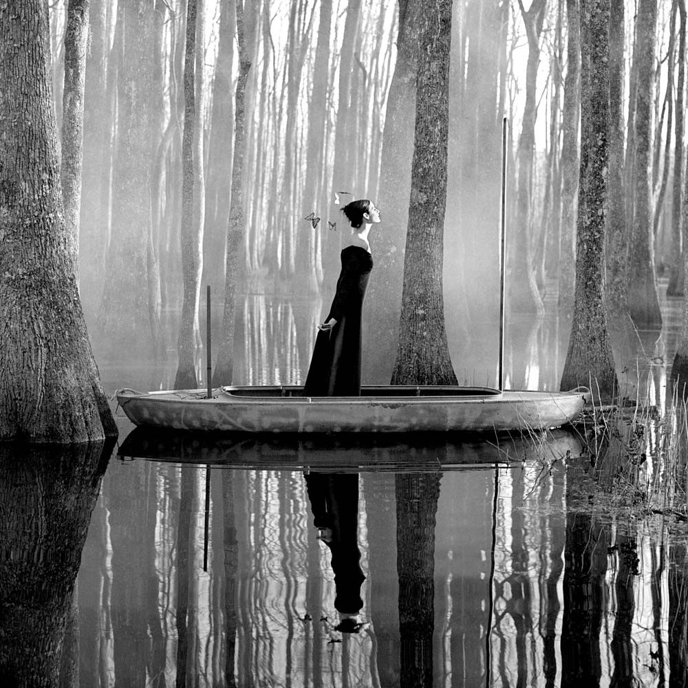 "<span class=""caption-title"">Danielle in Boat</span>, Beaufort, South Carolina, 1996<span class=""caption-copyright"">© Rodney Smith</span>"