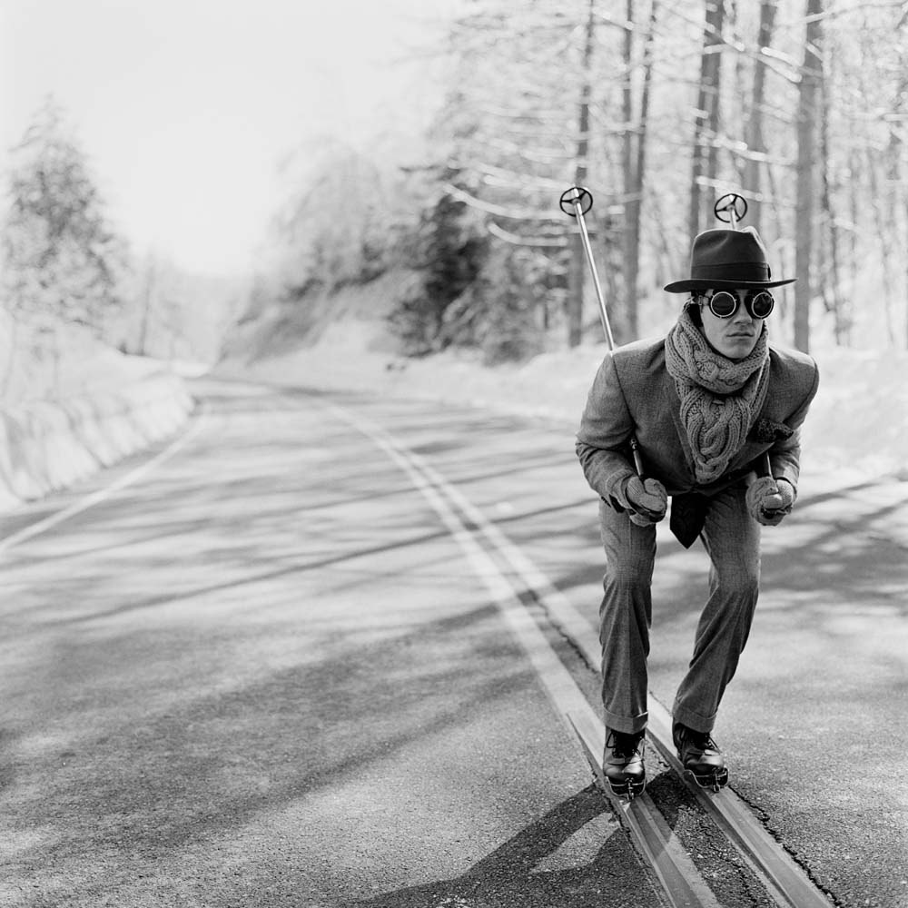 "<span class=""caption-title"">Reed Skiing</span>, Lake Placid, New York, 2008<span class=""caption-copyright"">© Rodney Smith</span>"
