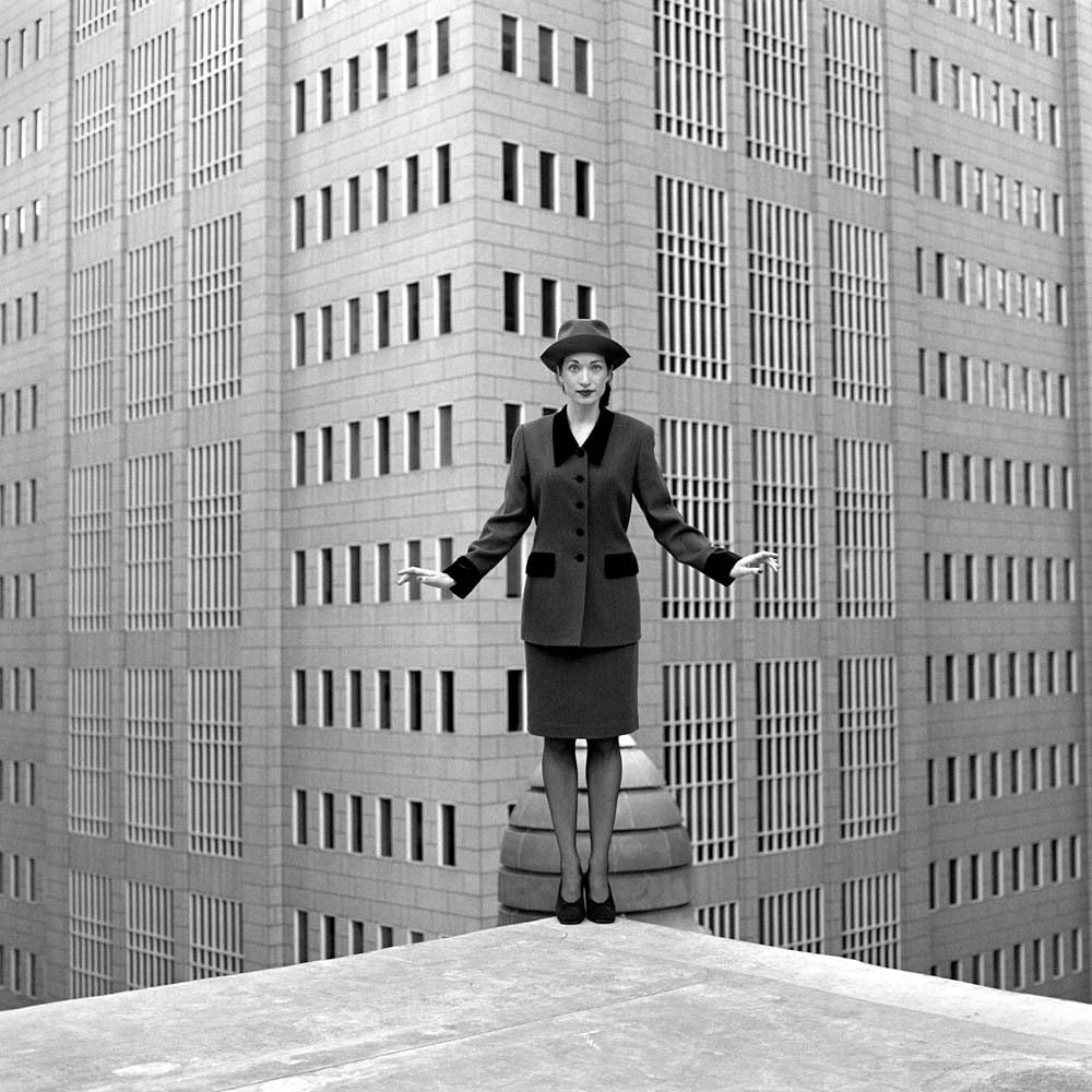 "<span class=""caption-title"">Jessica on Roof</span>, Chicago, Illinois, 1997<span class=""caption-copyright"">© Rodney Smith</span>"