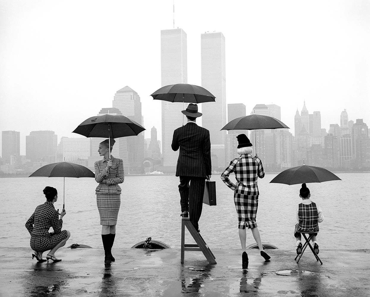 "<span class=""caption-title"">Skyline Hudson River</span>, New York City, New York, 1995<span class=""caption-copyright"">© Rodney Smith</span>"