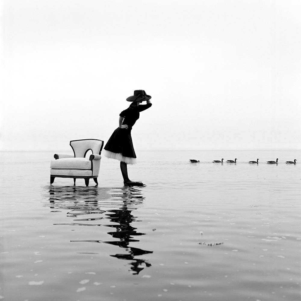 "<span class=""caption-title"">Zoe On Water With Ducks</span>, Sherwood Island Westport, Connecticut, 2004<span class=""caption-copyright"">© Rodney Smith</span>"