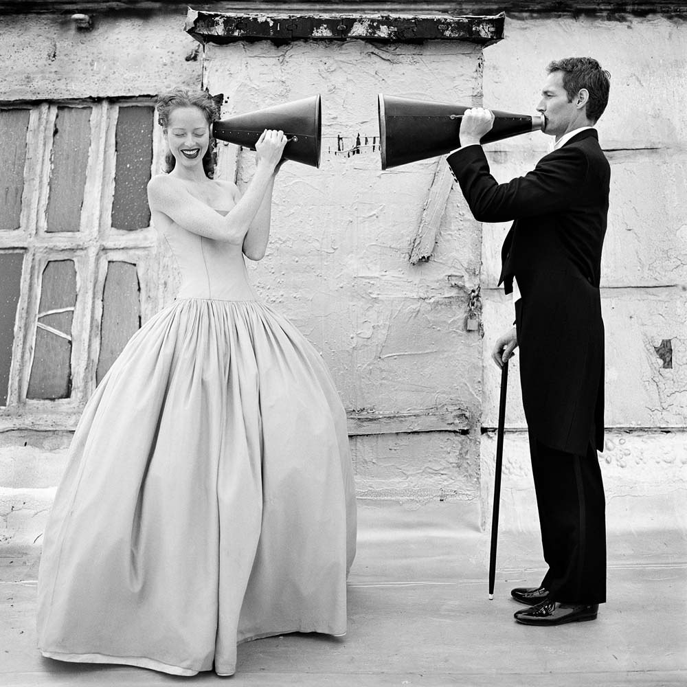 "<span class=""caption-title"">Victoria and Martin with Megaphones</span>,  Brooklyn, New York, 2000<span class=""caption-copyright"">© Rodney Smith</span>"