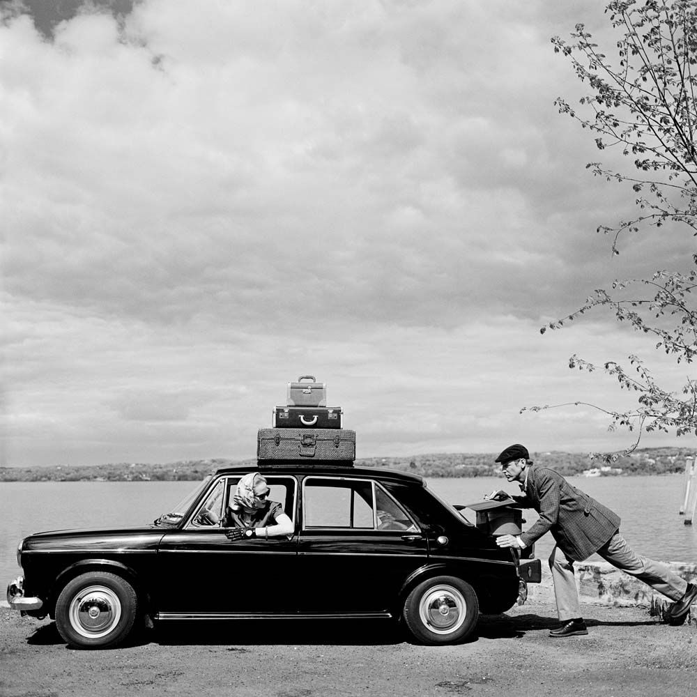 "<span class=""caption-title"">Viktoria and Rainer in Car</span>,  Snedens Landing, New York, 2011<span class=""caption-copyright"">© Rodney Smith</span>"