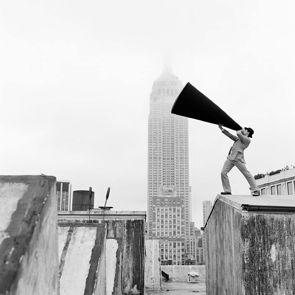 "<span class=""caption-title"">Reed with Megaphone on Rooftop</span>, New York, New York, 2011<span class=""caption-copyright"">© Rodney Smith</span>"