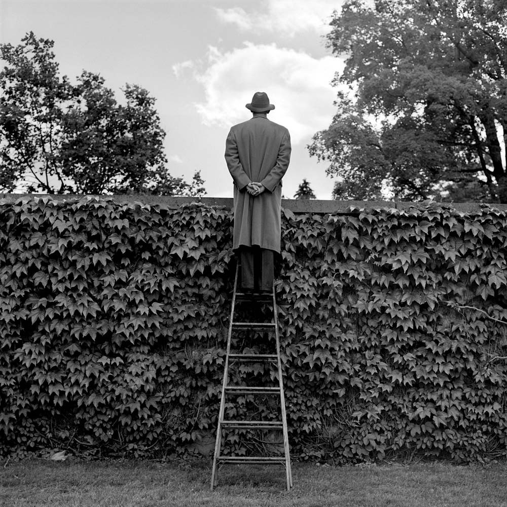 "<span class=""caption-title"">AJ Looking over Ivy-Covered Wall</span>, Harriman, New York, 1994<span class=""caption-copyright"">© Rodney Smith</span>"