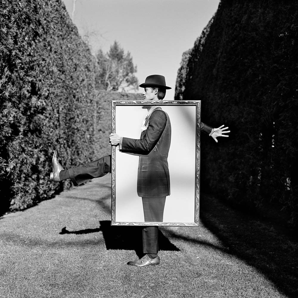 "<span class=""caption-title"">Nathan Holding Portrait of Himself</span>, Amenia, New York, 2011<span class=""caption-copyright"">© Rodney Smith</span>"