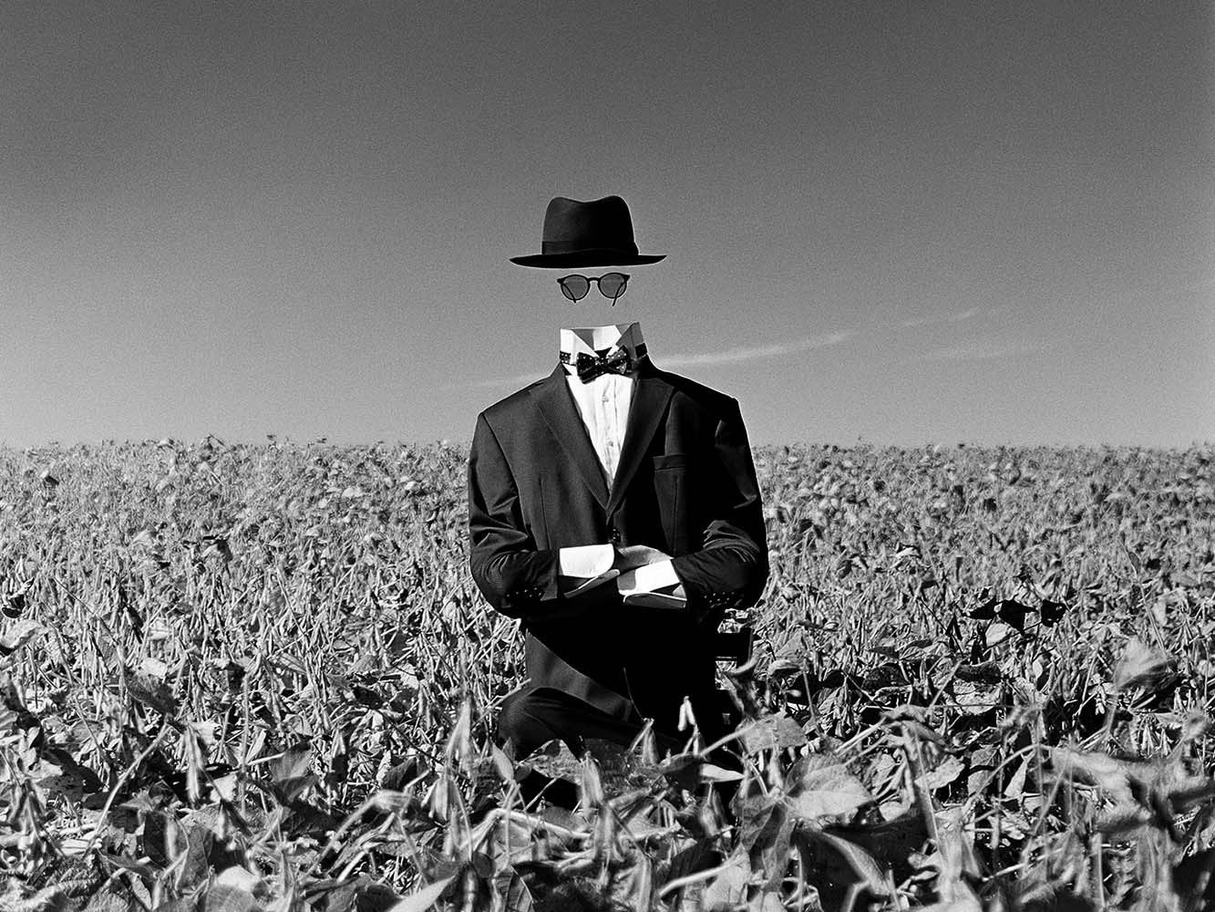 "<span class=""caption-title"">Invisible Man in Field</span>, Wethersfield Estate, Amenia, New York, 2014<span class=""caption-copyright"">© Rodney Smith</span>"
