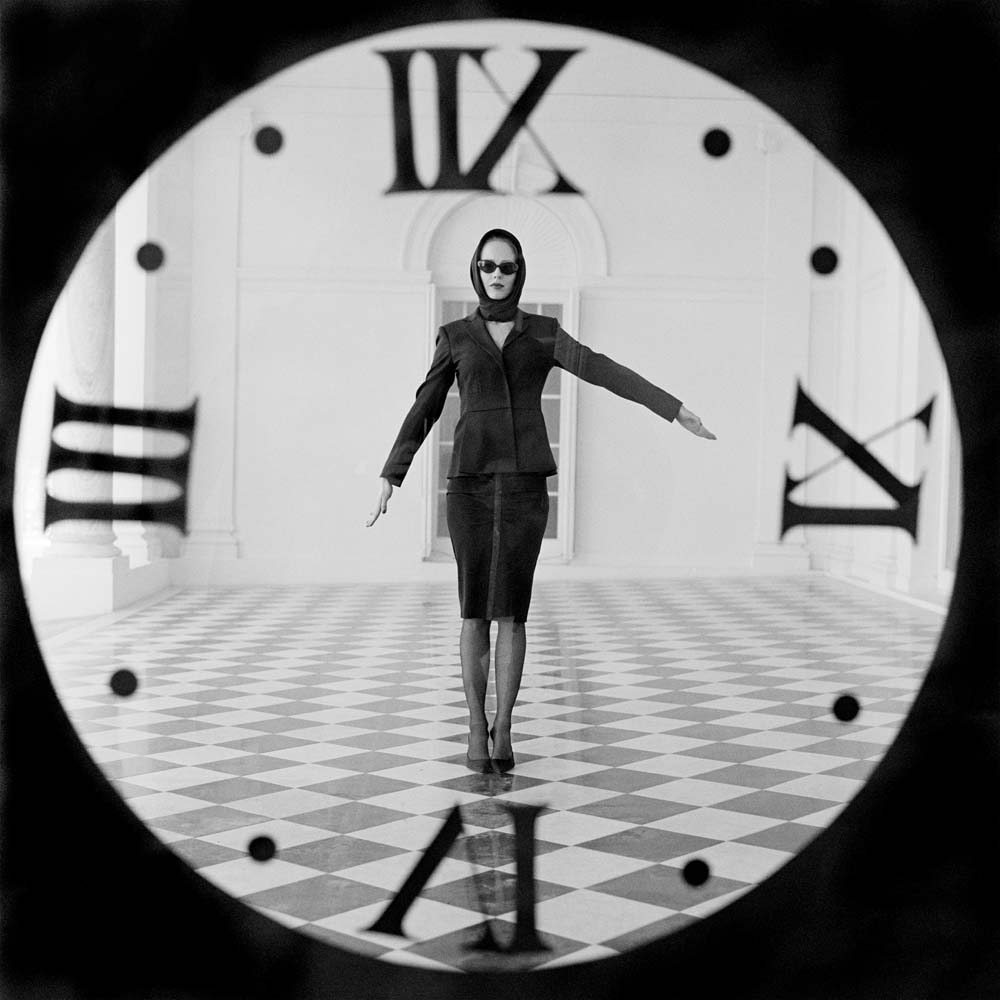 "<span class=""caption-title"">Viktoria Through Clock</span>, Rhinebeck, New York, 2011<span class=""caption-copyright"">© Rodney Smith</span>"