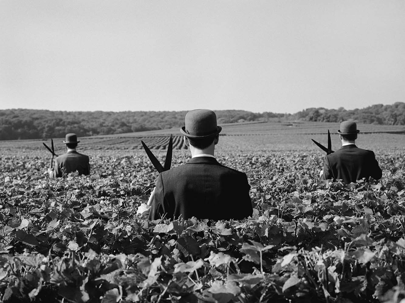 "<span class=""caption-title"">Three Men with Shears No. 1</span>, Reims, France, 1997<span class=""caption-copyright"">© Rodney Smith</span>"