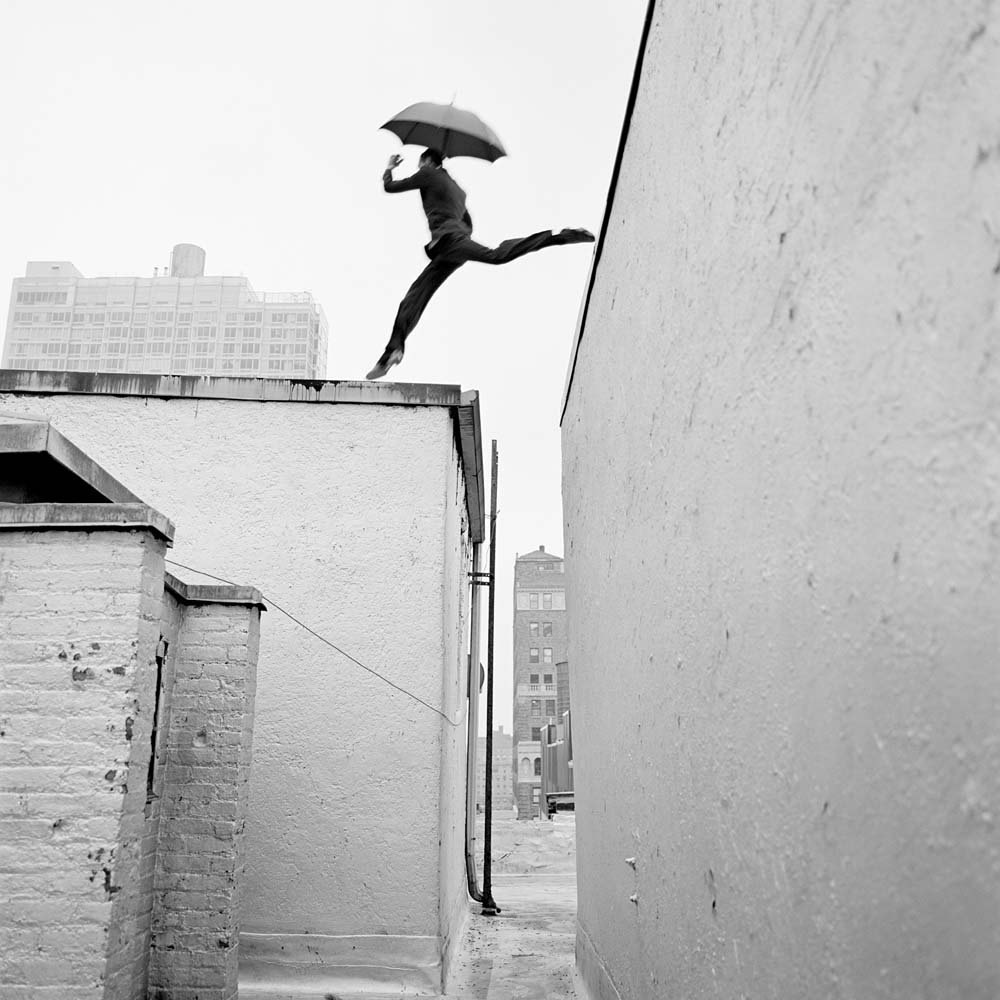 "<span class=""caption-title"">Reed Leaping over Rooftop</span>, New York, New York, 2007<span class=""caption-copyright"">© Rodney Smith</span>"
