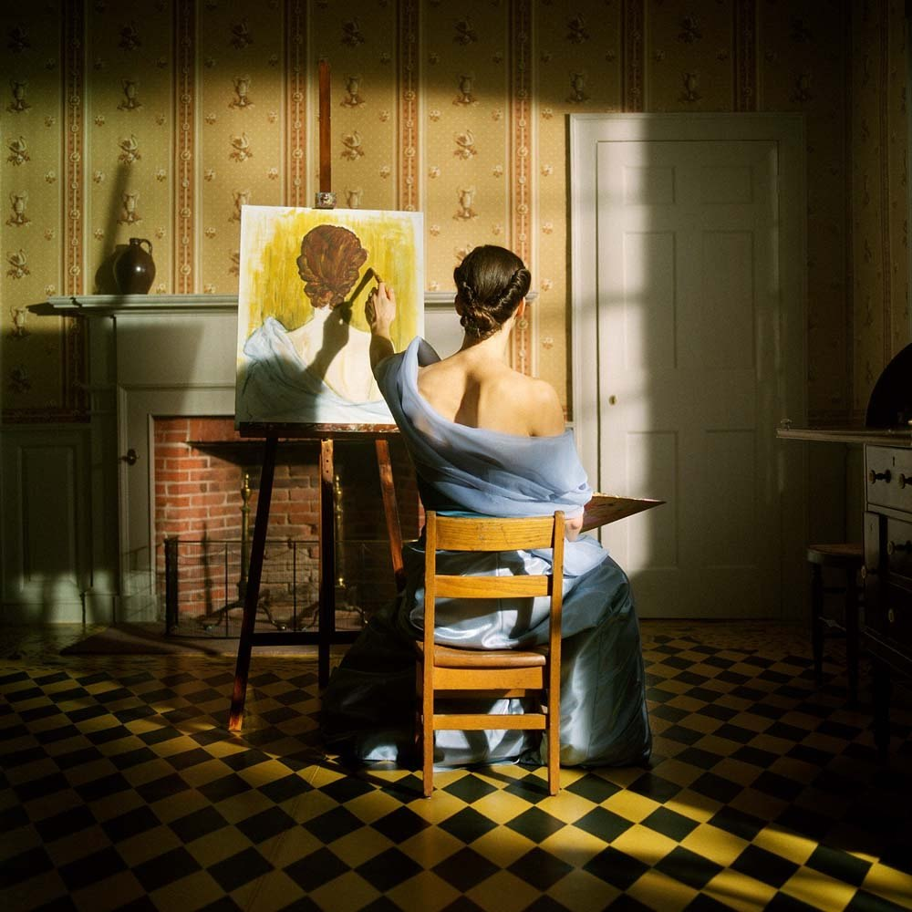 "<span class=""caption-title"">Caroline Painting</span>, Deerfield, Massachusetts, 2002<span class=""caption-copyright"">© Rodney Smith</span>"