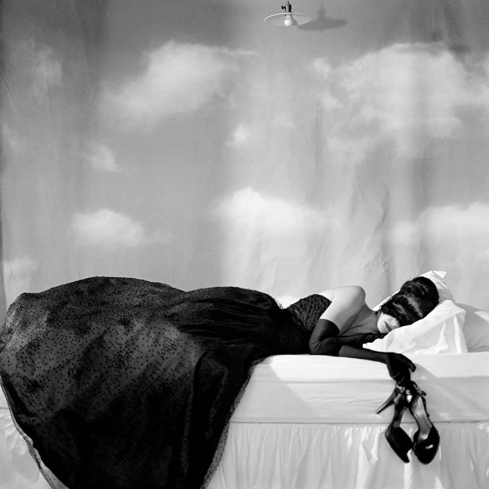 "<span class=""caption-title"">Zoe Sleeping with Mask</span>, Snedens Landing, New York, 2007<span class=""caption-copyright"">© Rodney Smith</span>"
