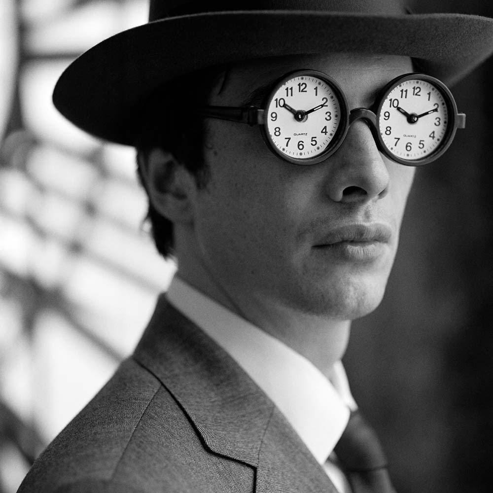 "<span class=""caption-title"">Collin with Clock Glasses</span>, New York City, New York, 2005<span class=""caption-copyright"">© Rodney Smith</span>"
