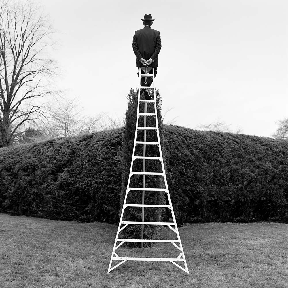 "<span class=""caption-title"">AJ Seated on Ladder from Behind</span>, Long Island, New York, 2000<span class=""caption-copyright"">© Rodney Smith</span>"